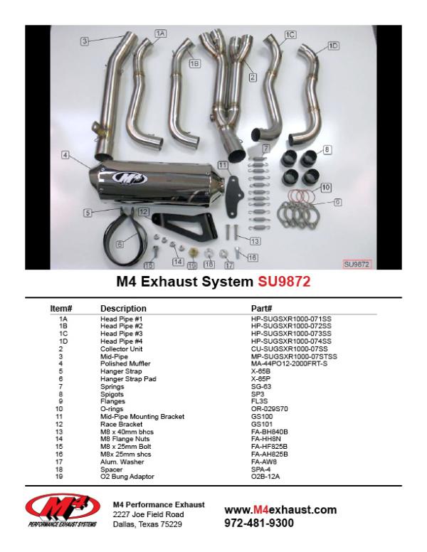 SU9872 Component Key