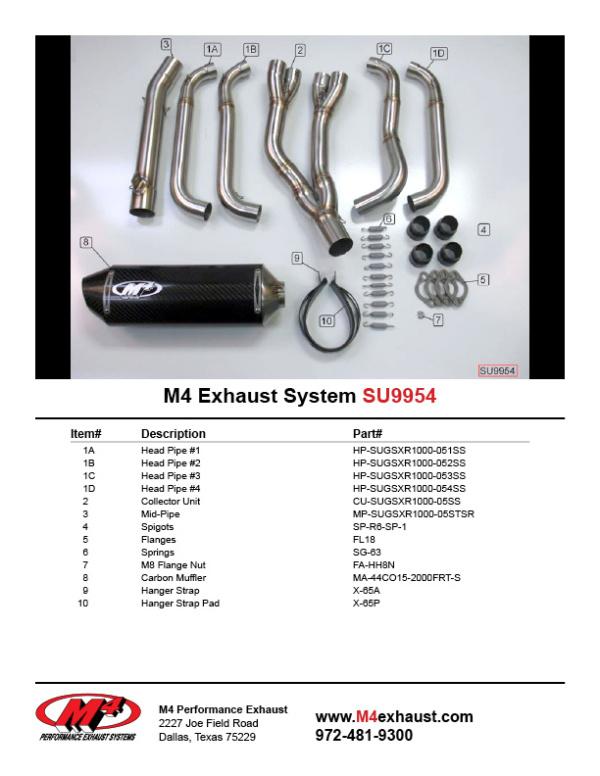 SU9954 Component Key