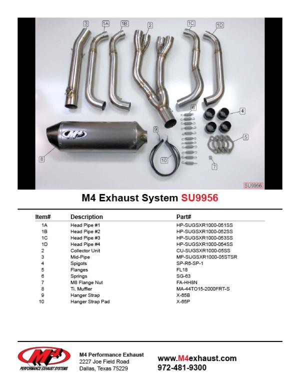 SU9956 Component Key