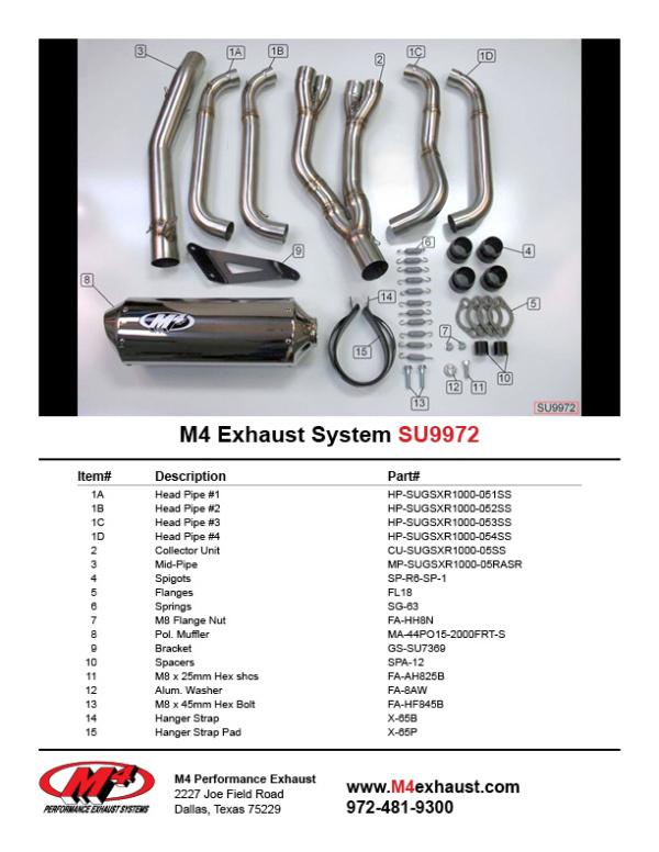 SU9972 Component Key