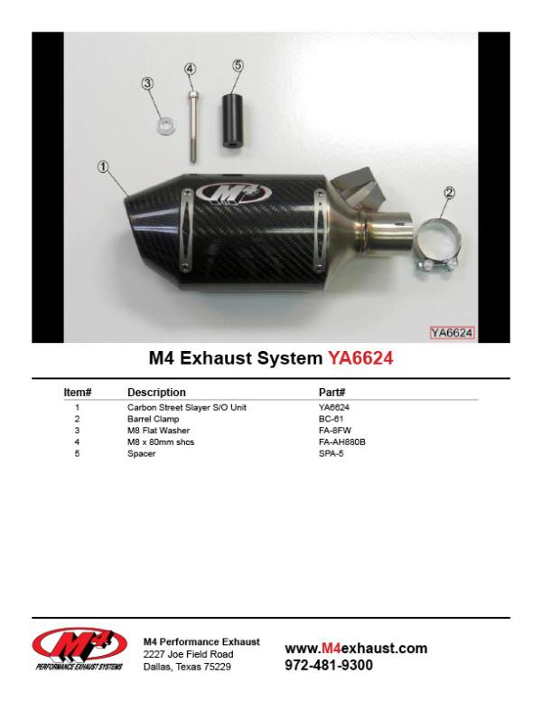 YA6624 Component Key