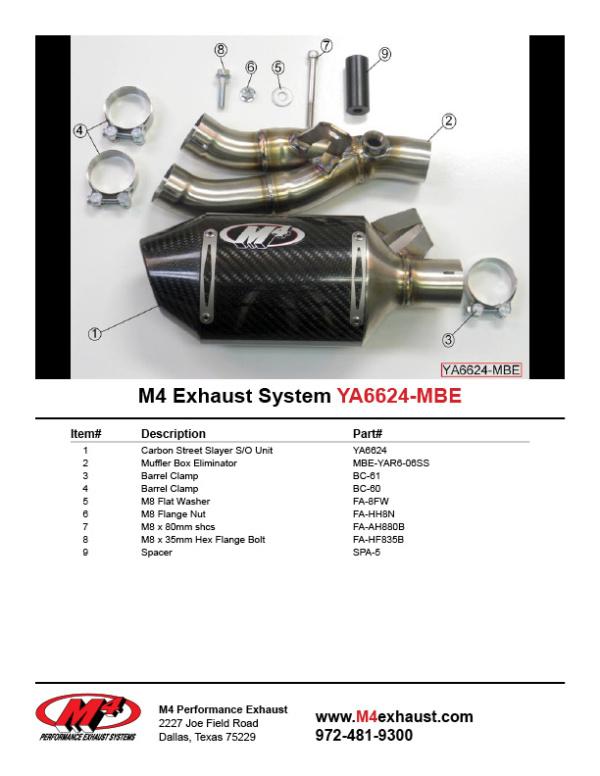 YA6624-MBE Component Key