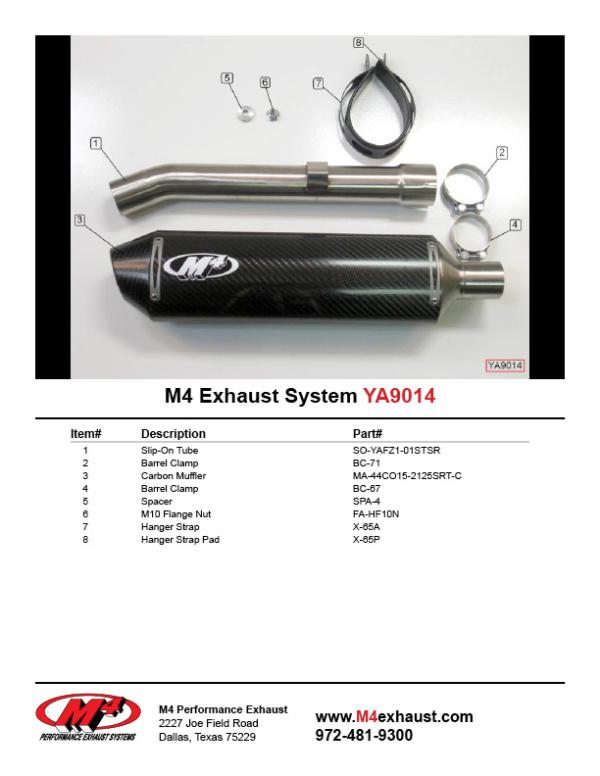 YA9014 Component Key