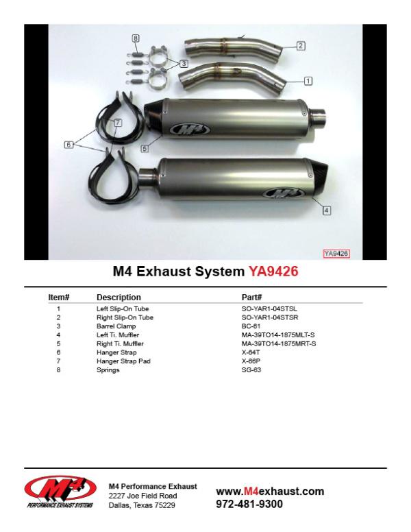YA9426 Component Key