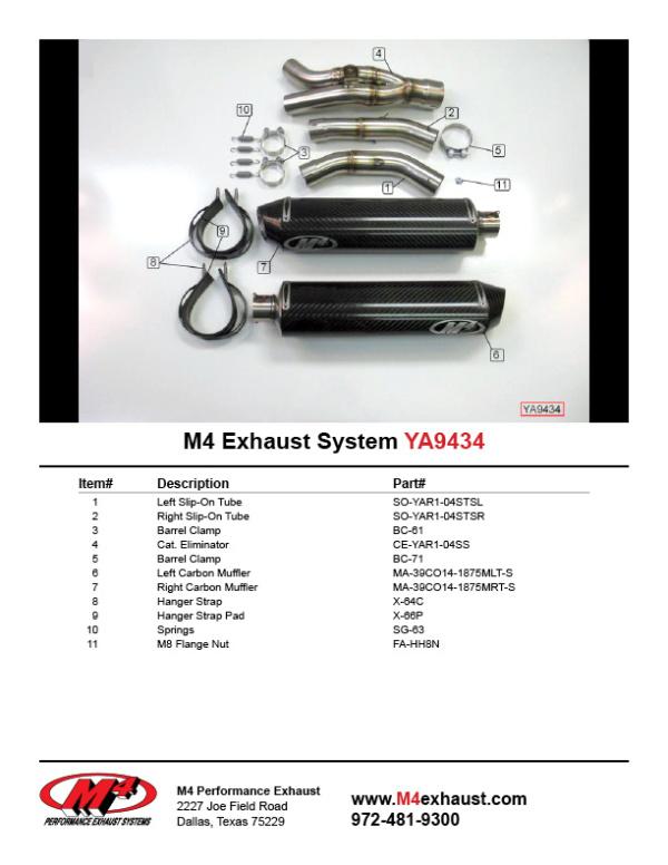 YA9434 Component Key