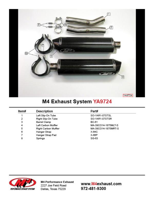 YA9724 Component Key