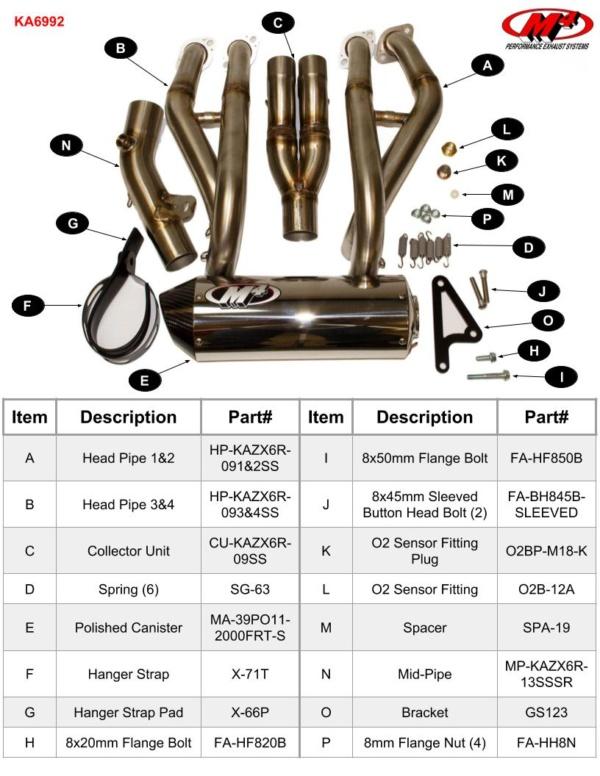 KA6992 Component Key